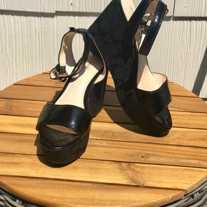 Coach Shoes - ⭐️ COACH NALENE PATENT LEATHER PLATFORM WEDGES ⭐️